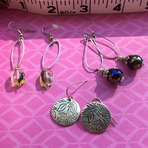 Jewelry - 2 for 1. Set of 3 earrings